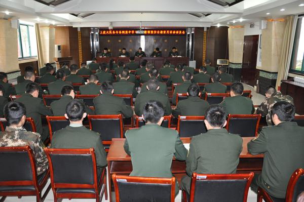 上虞消防召开条令条例集中学习训练整顿暨安全教育月活动动员大会